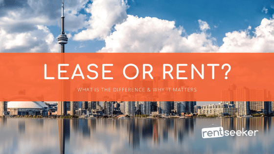 Lease vs Rent Blog Image with Toronto skyline